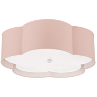Visual Comfort KS4118PNK/WHT-FA Kate Spade New York Bryce 4 Light 20 inch Pink and White Flower Flush Mount Ceiling Light Large