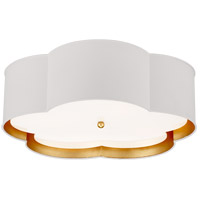 Visual Comfort KS4118WHT/G-FA Kate Spade New York Bryce 4 Light 20 inch White and Gild Flower Flush Mount Ceiling Light Large