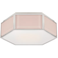 Visual Comfort KS4120BLS/PN-FG Kate Spade New York Bradford 2 Light 13 inch Blush and Polished Nickel Hexagonal Flush Mount Ceiling Light Small
