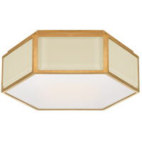 Visual Comfort KS4120CRE/SB-FG Kate Spade New York Bradford 2 Light 13 inch Cream and Soft Brass Hexagonal Flush Mount Ceiling Light Small