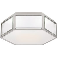 Visual Comfort KS4120MIR/PN-FG Kate Spade New York Bradford 2 Light 13 inch Mirror and Polished Nickel Hexagonal Flush Mount Ceiling Light Small