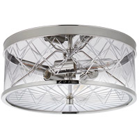 Visual Comfort KS4127PN-CG Kate Spade New York Darcy 3 Light 16 inch Polished Nickel Flush Mount Ceiling Light Medium