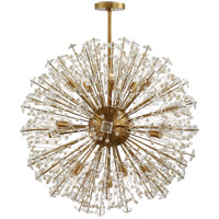 Visual Comfort KS5006SB-CG Kate Spade New York Dickinson 21 Light 32 inch Soft Brass Chandelier Ceiling Light Large
