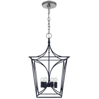 Visual Comfort KS5144NVY/PN Kate Spade New York Cavanagh 4 Light 14 inch French Navy and Polished Nickel Lantern Pendant Ceiling Light Small