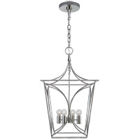 Visual Comfort KS5144PN Kate Spade New York Cavanagh 4 Light 14 inch Polished Nickel Lantern Pendant Ceiling Light, Small