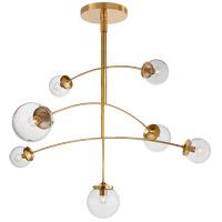 Visual Comfort KS5404SB-CG Kate Spade New York Prescott 7 Light 55 inch Soft Brass Mobile Chandelier Ceiling Light Large