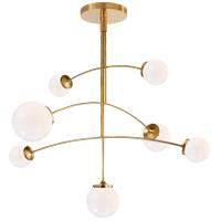 Visual Comfort KS5404SB-WG Kate Spade New York Prescott 7 Light 55 inch Soft Brass Mobile Chandelier Ceiling Light Large