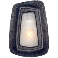 Kelly Wearstler Utopia 1 Light 6 inch Aged Iron Sconce Wall Light, Kelly Wearstler, Asymmetric, Fractured Glass