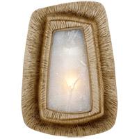 Visual Comfort KW2050G-FR Kelly Wearstler Utopia 1 Light 6 inch Gild Sconce Wall Light, Kelly Wearstler, Asymmetric, Fractured Glass