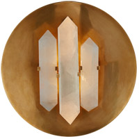 Visual Comfort KW2090AB/Q Kelly Wearstler Halcyon 2 Light 14 inch Antique Burnished Brass Sconce Wall Light, Kelly Wearstler, Round, Quartz