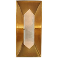 Kelly Wearstler Halcyon 1 Light 6 inch Antique Burnished Brass Sconce Wall Light, Kelly Wearstler, Rectangle, Quartz