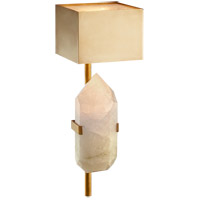 Visual Comfort KW2092AB/Q Kelly Wearstler Halcyon 1 Light 6 inch Antique Burnished Brass Sconce Wall Light, Kelly Wearstler, Quartz