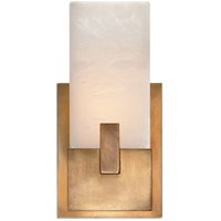 Visual Comfort KW2113AB-ALB Kelly Wearstler Covet LED 6 inch Antique Burnished Brass Bath Sconce Wall Light in Antique-Burnished Brass, Kelly Wearstler, Short, Clip, Alabaster Shade
