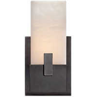 Visual Comfort KW2113BZ-ALB Kelly Wearstler Covet LED 6 inch Bronze Bath Sconce Wall Light, Kelly Wearstler, Short, Clip, Alabaster Shade