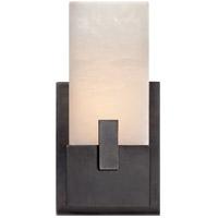 Visual Comfort KW2113BZ-ALB Kelly Wearstler Covet 6 inch Bronze Bath Sconce Wall Light, Kelly Wearstler, Short, Clip, Alabaster Shade