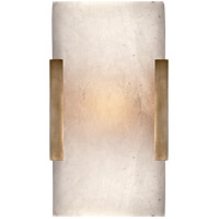 Kelly Wearstler Covet 1 Light 5 inch Antique Burnished Brass Bath Sconce Wall Light, Kelly Wearstler, Wide, Clip, Alabaster Shade