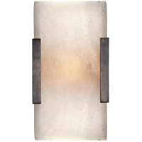 Visual Comfort KW2115BZ-ALB Kelly Wearstler Covet LED 5 inch Bronze Bath Sconce Wall Light, Kelly Wearstler, Wide, Clip, Alabaster Shade