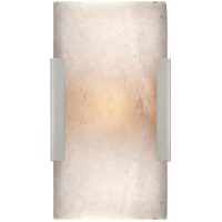 Visual Comfort KW2115PN-ALB Kelly Wearstler Covet LED 5 inch Polished Nickel Bath Sconce Wall Light, Kelly Wearstler, Wide, Clip, Alabaster Shade