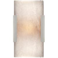 Visual Comfort KW2115PN-ALB Kelly Wearstler Covet 1 Light 5 inch Polished Nickel Bath Sconce Wall Light, Kelly Wearstler, Wide, Clip, Alabaster Shade