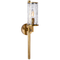 Kelly Wearstler Liaison 1 Light 4 inch Antique-Burnished Brass Sconce Wall Light in Antique Burnished Brass, Kelly Wearstler, Crackle Glass