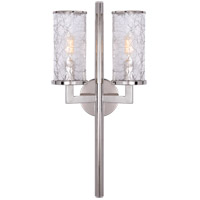 Visual Comfort KW2201PN-CRG Kelly Wearstler Liaison 2 Light 10 inch Polished Nickel Sconce Wall Light, Kelly Wearstler, Crackle Glass