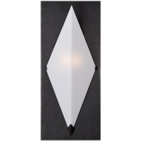 Visual Comfort Kelly Wearstler Forma 1 Light 15-inch Sconce in Bronze, White Glass KW2250BZ-WG