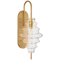 Kelly Wearstler Tableau 1 Light 7 inch Antique-Burnished Brass Sconce Wall Light in Clear Glass, Large