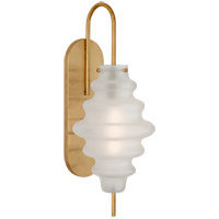 Visual Comfort KW2270AB-VG Kelly Wearstler Tableau 1 Light 7 inch Antique-Burnished Brass Sconce Wall Light in Volcanic Glass Large