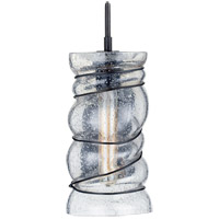 Kelly Wearstler Revelle 5 inch Aged Iron Sconce Wall Light, Kelly Wearstler, Large, Seeded Glass