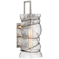 Visual Comfort KW2301PN-SG Kelly Wearstler Revelle 5 inch Polished Nickel Sconce Wall Light, Kelly Wearstler, Large, Seeded Glass