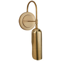 Visual Comfort KW2420AB Kelly Wearstler Lucien 1 Light 5 inch Antique-Burnished Brass Wall Light