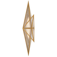 Visual Comfort KW2654AB-CLG Kelly Wearstler Ori LED 7 inch Antique-Burnished Brass Sconce Wall Light, Tall