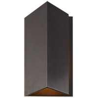 Visual Comfort KW2709BZ Kelly Wearstler Esker LED 10 inch Bronze Outdoor Wall Light, Small Triangle