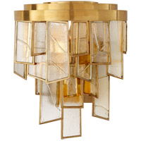 Kelly Wearstler Ardent 2 Light 11 inch Antique-Burnished Brass Wall Sconce Wall Light