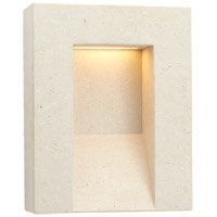 Visual Comfort KW2900TVT Kelly Wearstler Tribute LED 15 inch Travertine Outdoor Wall Sconce Medium