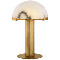 Kelly Wearstler Melange 23 inch 14.5 watt Antique-Burnished Brass Table Lamp Portable Light in Antique Burnished Brass, Kelly Wearstler, Alabaster Shade