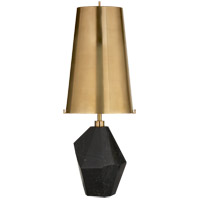 Visual Comfort KW3012BM-AB Kelly Wearstler Halcyon 25 inch 75 watt Black Cremo Marble Accent Lamp Portable Light in Antique Brass, Medium