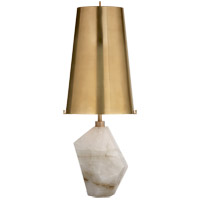 Visual Comfort KW3012Q-AB Kelly Wearstler Halcyon 25 inch 75 watt Natural Quartz Stone Table Lamp Portable Light in Antique Brass, Kelly Wearstler, Accent, Antique Brass Shade