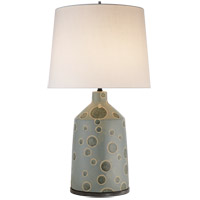 Kelly Wearstler Bijou 28 inch 100 watt Matte Stone Grey and Dotty Anglia Table Lamp Portable Light, Kelly Wearstler, Linen Shade