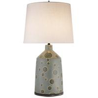Visual Comfort KW3025GDA-L Kelly Wearstler Bijou 28 inch 100 watt Matte Stone Grey and Dotty Anglia Table Lamp Portable Light, Kelly Wearstler, Linen Shade