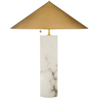 Visual Comfort KW3047ALB-AB Kelly Wearstler Minimalist 25 inch 25 watt Alabaster Table Lamp Portable Light, Medium