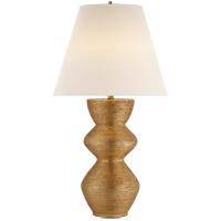 Visual Comfort KW3055G-L Kelly Wearstler Utopia 28 inch 100 watt Gild Table Lamp Portable Light, Kelly Wearstler, Linen Shade