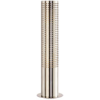 Visual Comfort Kelly Wearstler Precision 16-inch Table Lamp in Polished Nickel, Frosted Glass KW3060PN