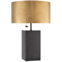 Visual Comfort Kelly Wearstler Zuma 2 Light 27-inch Table Lamp in Bronze, Antique Brass Shade KW3085BZ-AB
