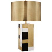 Kelly Wearstler Bloque 27 inch 75 watt Mixed Brass  Bronze  and Nickel Table Lamp Portable Light
