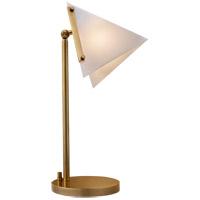 Visual Comfort KW3253AB-WG Kelly Wearstler Forma 18 inch 60 watt Antique Burnished Brass Table Lamp Portable Light, Kelly Wearstler, Round Base, White Glass