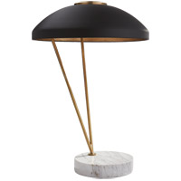 Visual Comfort KW3331AB/BLK Kelly Wearstler Coquette 20 inch 75 watt Antique Burnished Brass Table Lamp Portable Light, Kelly Wearstler, Black Shade