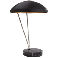 Visual Comfort KW3331PN/BLK Kelly Wearstler Coquette 20 inch 75 watt Polished Nickel Table Lamp Portable Light, Kelly Wearstler, Black Shade