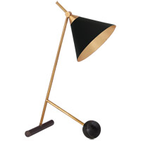 Kelly Wearstler Cleo 19 inch 60 watt Bronze with Antique-Burnished Brass Table Lamp Portable Light in Black