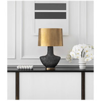Visual Comfort KW3612SBM-AB Kelly Wearstler Armato 28 inch 75 watt Stained Black Metallic Porcelain Table Lamp Portable Light in Hand-Rubbed Antique Brass alternative photo thumbnail